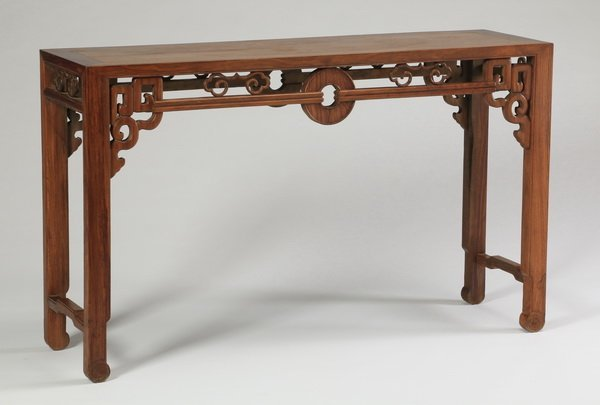 Carved huanghuali painting table