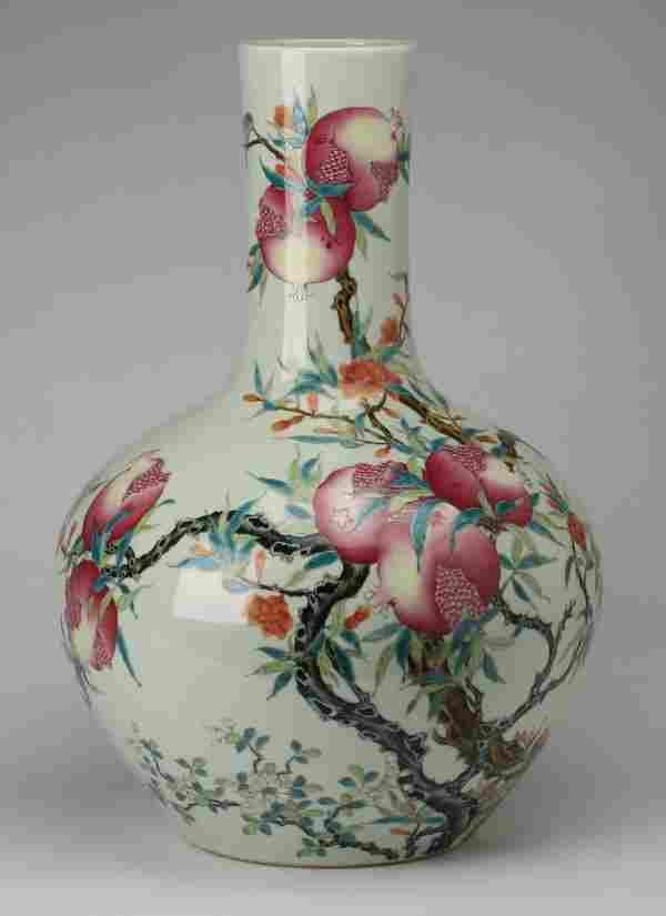 "Chinese famille rose vase, Qianlong mark, 23"""