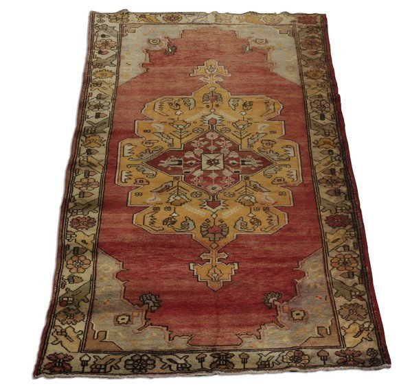 Semi antique hand knotted Persian runner