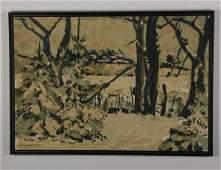 Hildegarth Rath signed O/c landscape