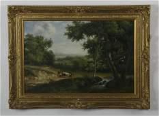 J. Robertson signed O/c, landscape, 19th c.