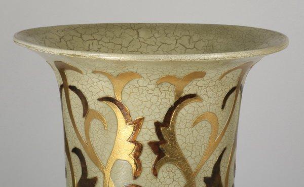 """(2) Oversized Asian inspired floor vases, 62"""" - 4"""