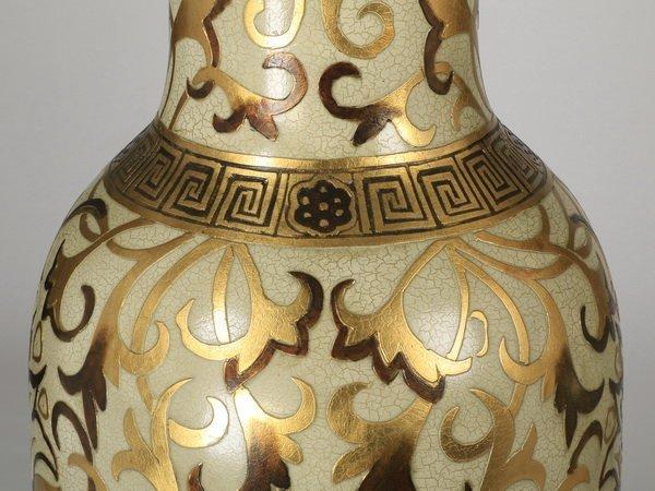 """(2) Oversized Asian inspired floor vases, 62"""" - 5"""