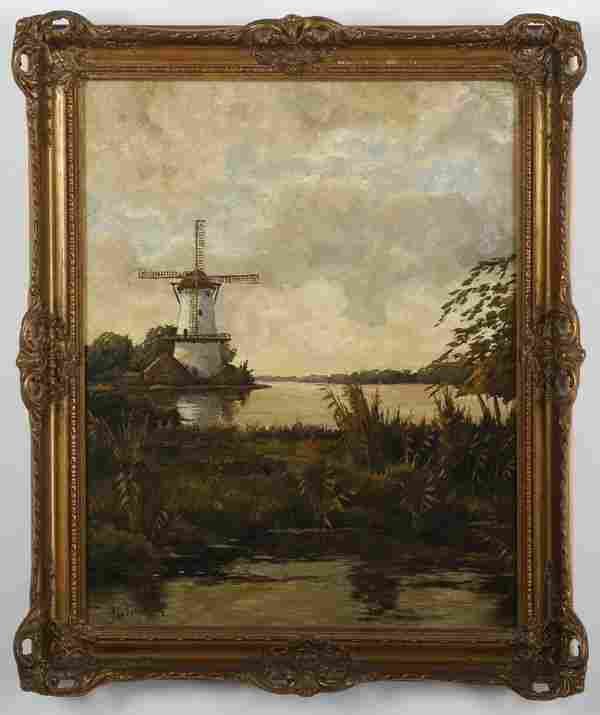 Jan Van Beek (Dutch) signed oil on canvas