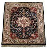 Indo Persian hand knotted wool rug, 8 x 11