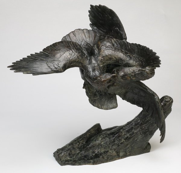 French bronze sculpture, foundry, artist mark
