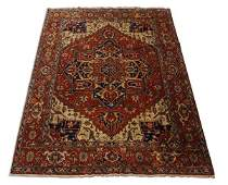 Hand knotted wool Serapi rug 9 x 12