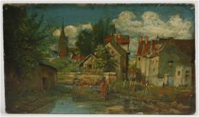 (4) Early 20th c. oil on board artworks