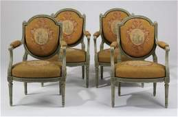 (4) Early 20th c. French armchairs
