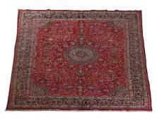 Hand knotted Persian Mashad rug, 10 x 13