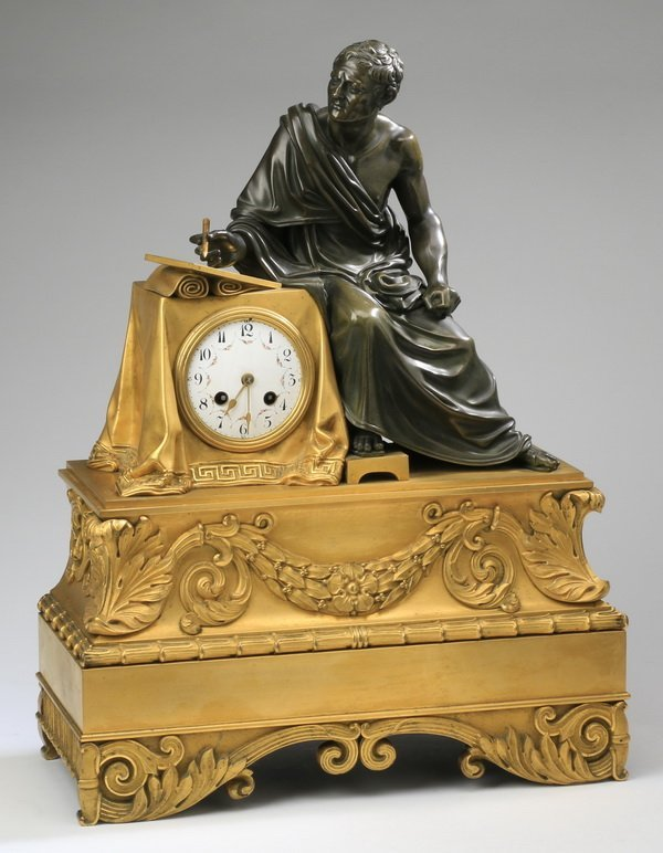 19th c. French gilt bronze mounted clock