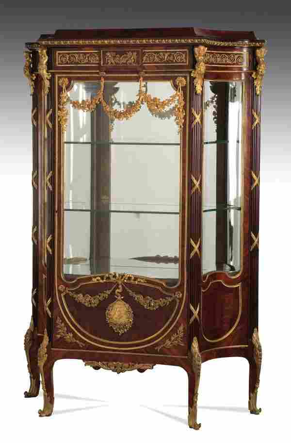 "Very fine 19th c. French vitrine, 69""h"