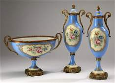 3-Piece early 20th c. French graniture set