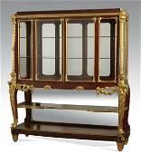 Fine 19th c. French dore' bronze mtd cabinet