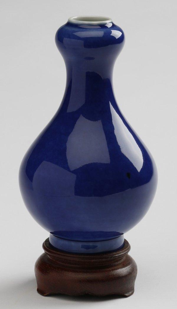 Chinese garlic head vase, Qianlong mark