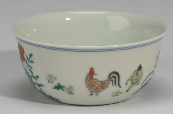 Finely potted Chinese chicken cup, Yongzheng