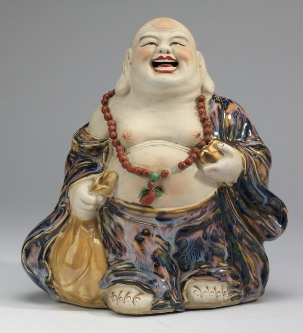Chinese porcelain figure of a Happy Buddha