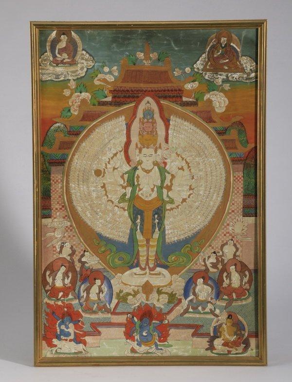 Hand painted Buddhist thangka