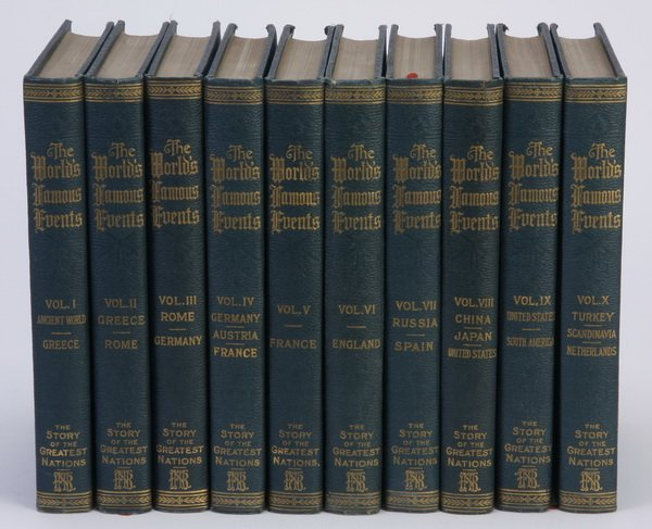 (10) Volume set of World Famous Events