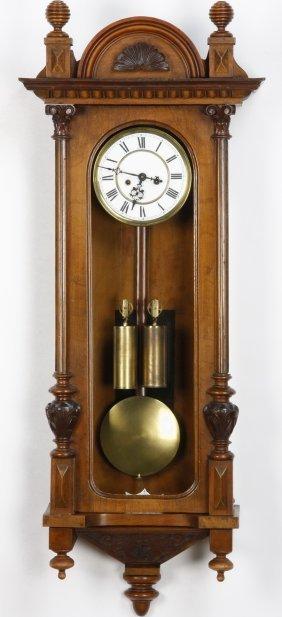 19th C. 2-weight Vienna Regulator Clock