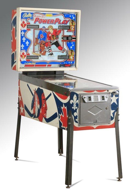 Bobby Orr hockey pinball machine, Bally, 1977