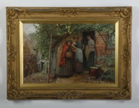 Edward Johnson (british) Signed Watercolor