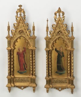 (2) After Fra Angelico, Framed O/p Of Angels