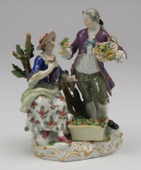 19th C. Meissen Porcelain Figurine, Marked