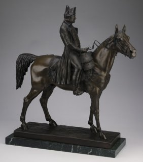 French Bronze Sculpture Of Napoleon, 19th C.