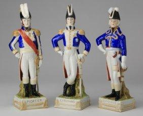 (3) German Porcelain Soldier Figurines
