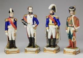 (4) German Porcelain Soldier Figurines