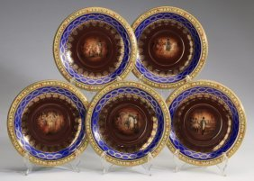 (5) Continental Napoleonic Cabinet Plates