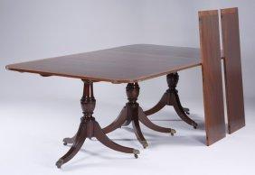 19th C. English Mahogany Dining Table