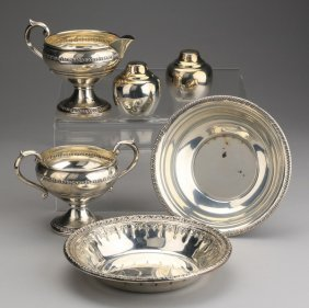 (6) 20th C. Sterling And Plated Table Items