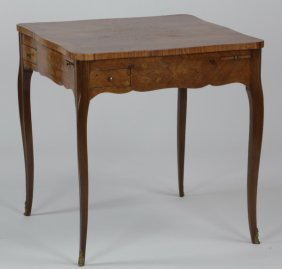 Marquetry Inlaid Satinwood Game Table