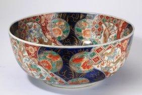 "Japanese Imari Porcelain Bowl, 19th C., 16""w"