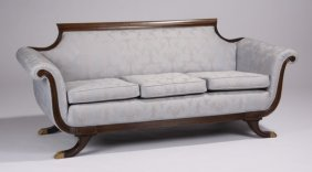 Early 20th C. American Empire Style Sofa