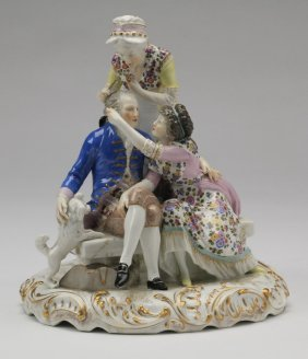 19th C. French Porcelain Grouping, Samson Co.