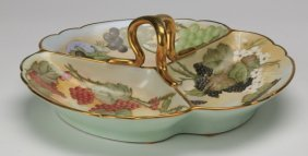 Austrian Porcelain Serving Dish, Marked