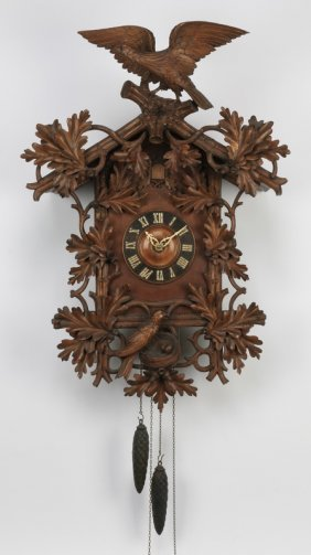 Black Forest Cuckoo Clock W/carved Birds 38""
