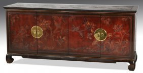 """Mid-century Asian Inspired Console, 68""""l"""