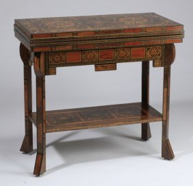 Moroccan Marquetry Inlaid Games Table