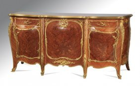 Very Fine 19th C. Ormolu & Marquetry Commode