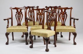 (6) Chippendale Style Dining Chairs