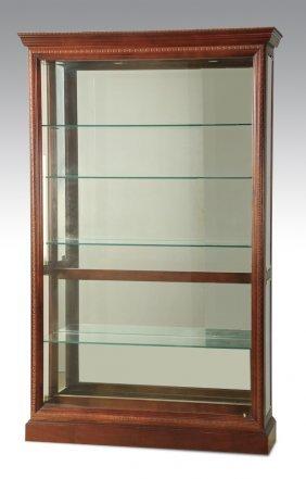 Mahogany Lighted Display Cabinet