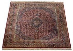 Hand Knotted Persian Bidjar Wool Rug, 10 X 13
