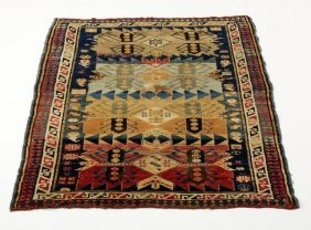 Caucasian Hand-knotted Wool Rug, 3 X 5