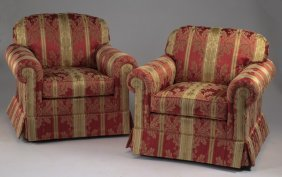 (2) Custom Upholstered Armchairs