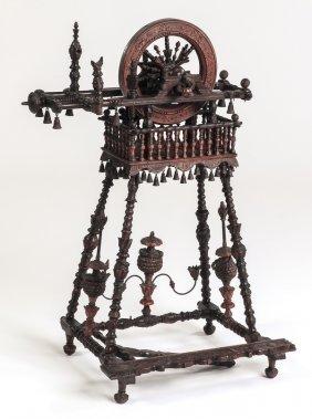 Miniature Boudoir Spinning Wheel, 18th C.