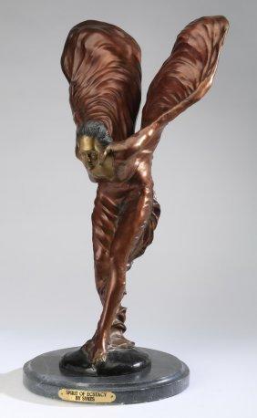 "Bronze Figural Sculpture, ""spirit Of Ecstasy"""